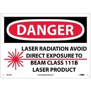 Danger, Laser Radiation Avoid Direct Exposure To Beam Class 111B Laser Product, Graphic, 10X14, Rigid Plastic