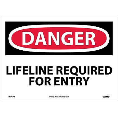 Danger, Lifeline Required for Entry, 10