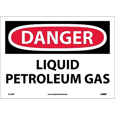 Danger, Liquid Petroleum Gas, 10X14, Adhesive Vinyl