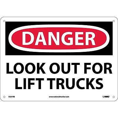 Danger, Look Out For Lift Trucks, 10X14, Rigid Plastic