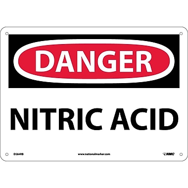 Danger, Nitric Acid, 10X14, Rigid Plastic