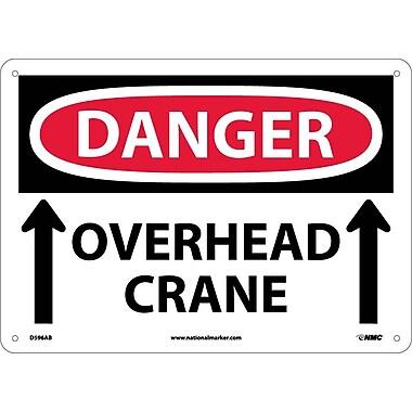 Danger, Overhead Crane, Up Arrows, 10X14, .040 Aluminum