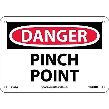 Danger, Pinch Point, 7X10, .040 Aluminum