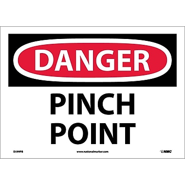 Danger, Pinch Point, 10X14, Adhesive Vinyl