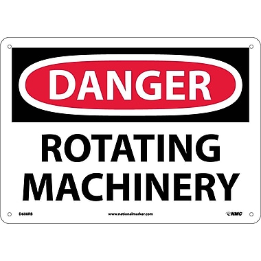 Danger, Rotating Machinery, 10X14, Rigid Plastic