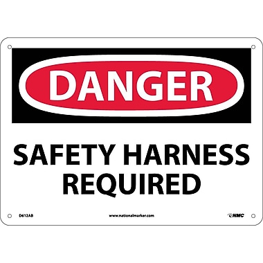 Danger, Safety Harness Required, 10X14, .040 Aluminum