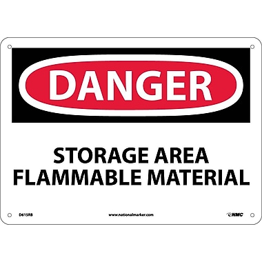Danger, Storage Area Flammable Material, 10X14, Rigid Plastic