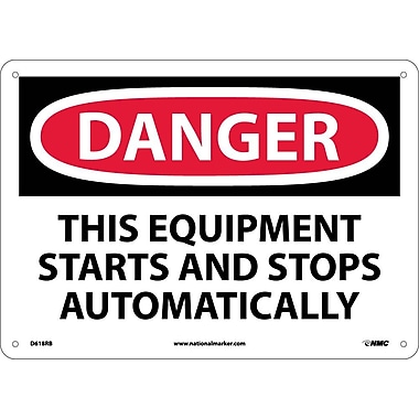 Danger, This Equipment Starts And Stops Automatically, 10