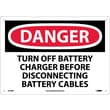 Danger, Turn Off Battery Charger Before Disconnecting Battery Cables, 10X14, Rigid Plastic