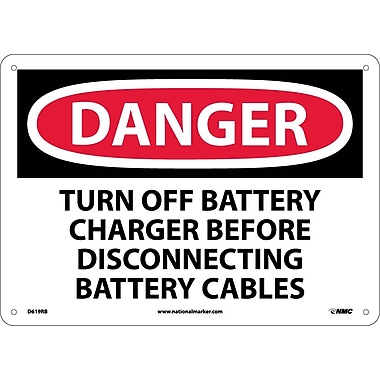 Danger, Turn Off Battery Charger Before Disconnecting Battery Cables, 10