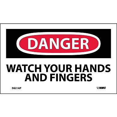 Labels Danger, Watch Your Hands And Fingers, 3