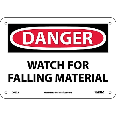 Danger, Watch For Falling Materials, 7X10, .040 Aluminum