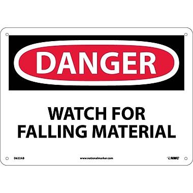 Danger, Watch For Falling Material, 10X14, .040 Aluminum