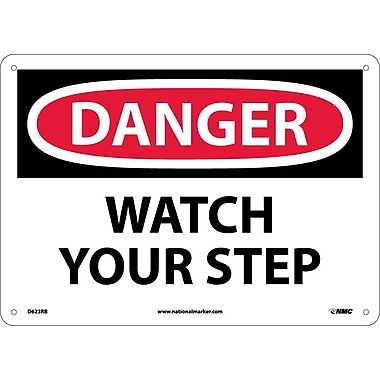 Danger, Watch Your Step, 10X14, Rigid Plastic