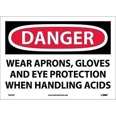 Danger, Wear Aprons, Gloves And Eye Protection When Handling Acids, 10
