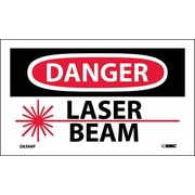 Labels - Danger, Laser Beam, Graphic, 3X5, Adhesive Vinyl, 5/Pk