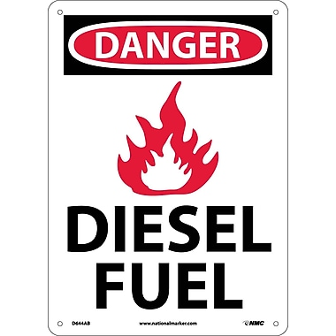 Danger, Diesel Fuel, Graphic, 10X14, .040 Aluminum
