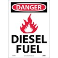 Danger, (Graphic) Diesel Fuel, 14X10, Adhesive Vinyl