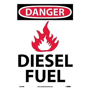 Danger, (Graphic) Diesel Fuel, 14X10, Rigid Plastic