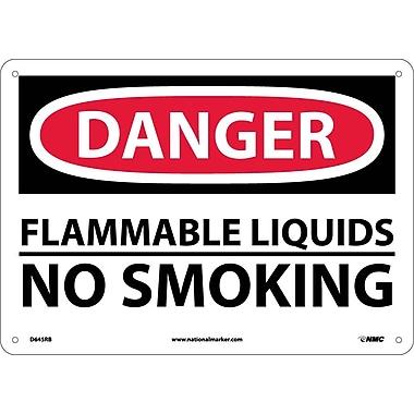 Danger, Flammable Liquids No Smoking, 10