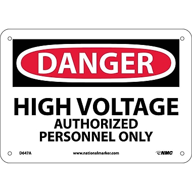 Danger, High Voltage Authorized Personnel Only, 7