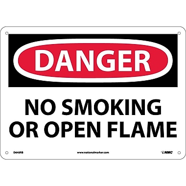 Danger, No Smoking Or Open Flame, 10X14, Rigid Plastic