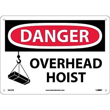 Danger, Overhead Hoist, Graphic, 10