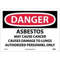 Danger, Asbestos Cancer And Lung Disease Hazard Authorized Personnel Only, 10X14, Adhesive Vinyl