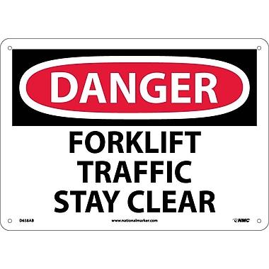 Danger, Forklift Traffic Stay Clear, 10X14, .040 Aluminum