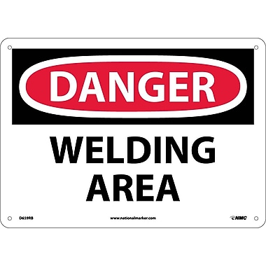 Danger, Welding Area, 10X14, Rigid Plastic