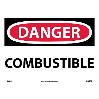 Danger, Combustible, 10X14, Adhesive Vinyl