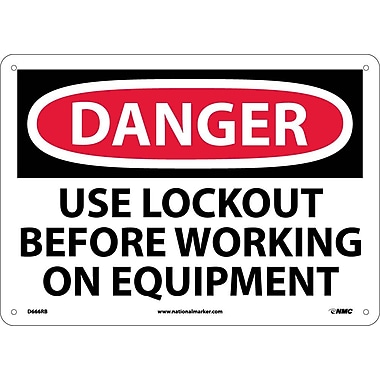 Danger, Use Lockout Before Working On Equipment, 10