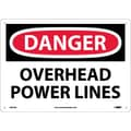 Danger, Overhead Power Lines, 10X14, .040 Aluminum