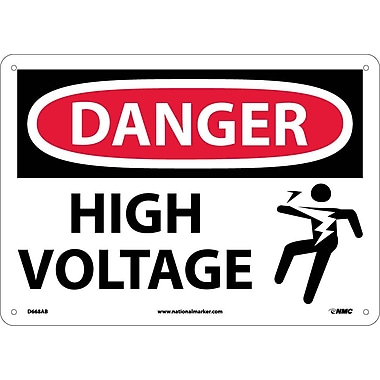 Danger, High Voltage (Graphic), 10X14, .040 Aluminum