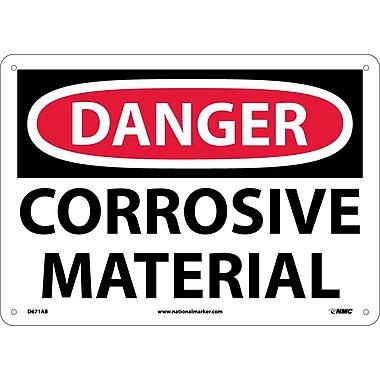 Danger, Corrosive Material, 10X14, .040 Aluminum