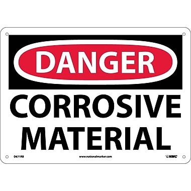 Danger, Corrosive Material, 10X14, Rigid Plastic
