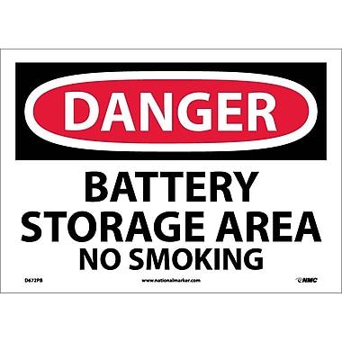 Danger, Battery Storage Area No Smoking, 10