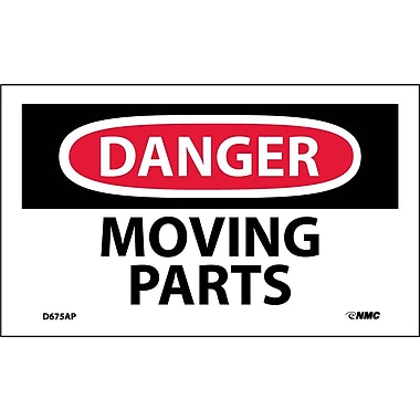 Labels Danger, Moving Parts, 3