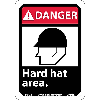 Danger, Hard Hat Area with Graphic, 10