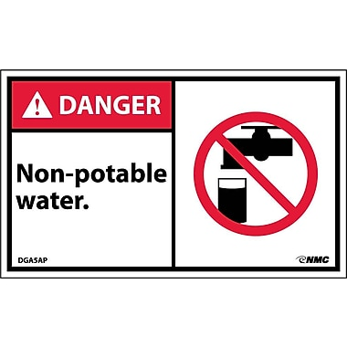 Labels Danger, Non-Potable Water Graphic, 3