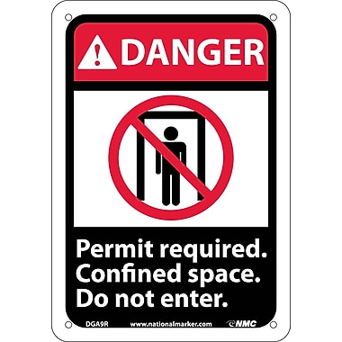 Danger, Permit Required Confined Space Do Not Enter with Graphic, 10