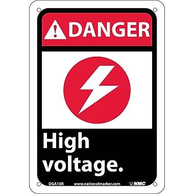 Danger, High Voltage (W/Graphic), 10X7, Rigid Plastic