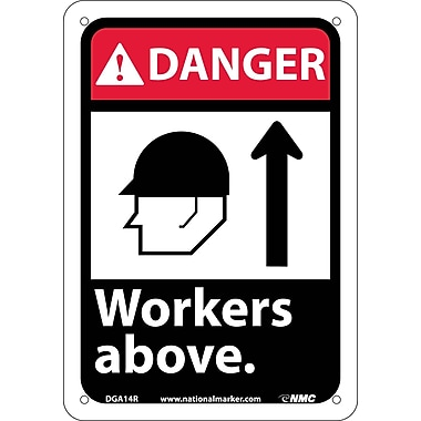 Danger, Workers Above (W/Graphic), 10X7, Rigid Plastic
