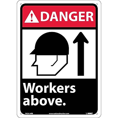 Danger, Workers Above with Graphic, 14