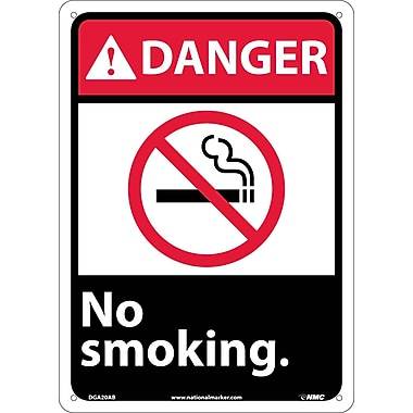 Danger, No Smoking with Graphic, 14