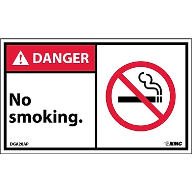 Labels Danger, No Smoking Graphic, 3