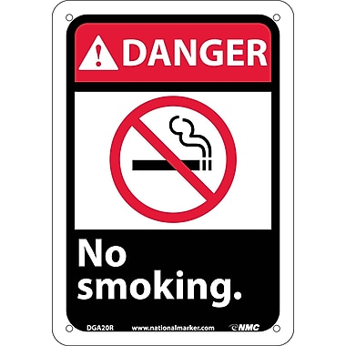 Danger, No Smoking with Graphic, 10