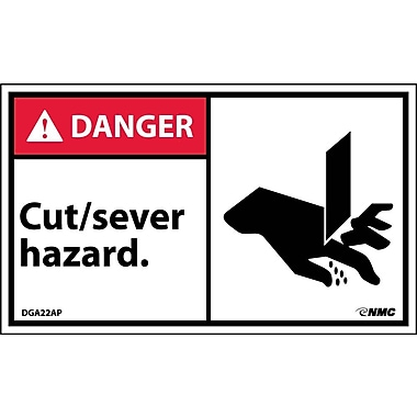 Labels Danger, Cut/Sever Hazard Graphic, 3