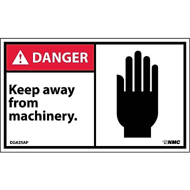 Labels Danger, Keep Away From Machinery Graphic, 3