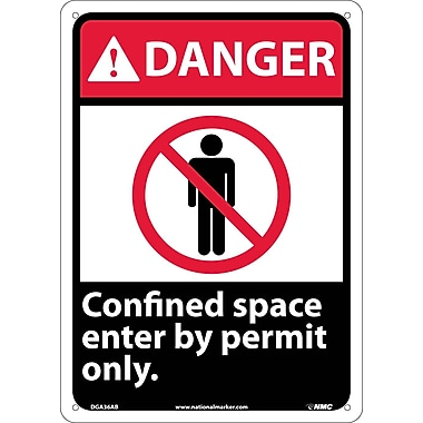 Danger, Confined Space Enter By Permit Only, 14